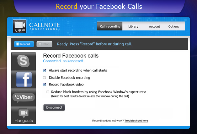 Facebook Video Call Recorder |Record Facebook Video Calls | Kanda