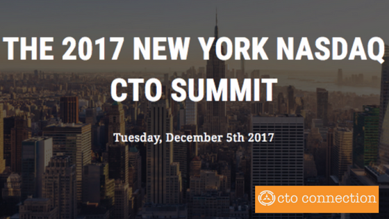 Come See Us! The 2017 New York Nasdaq CTO Summit on Dec 5th